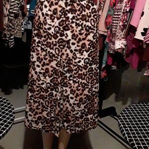 Leopard Lined Skirt